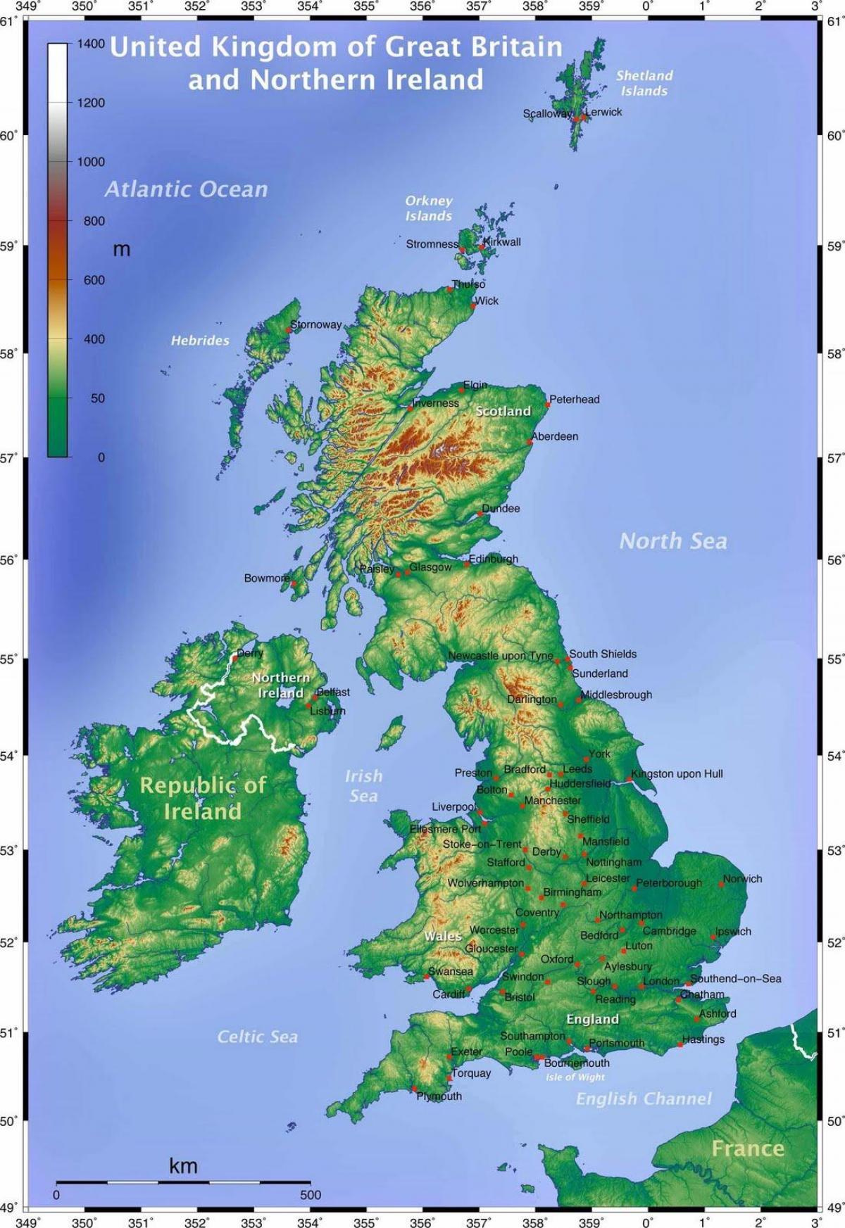 grande bretagne carte geographique Carte géographique du royaume UNI   carte Géographique de la